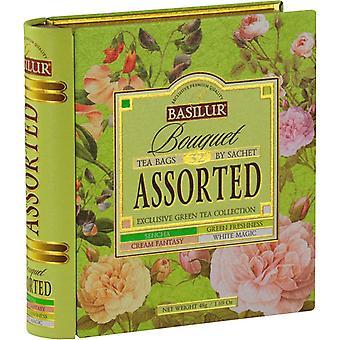 Verschiedene Tee Buch-grüner Tee In Tee Caddyx32 Teebeutel