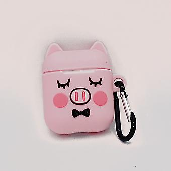 Cartoon Silicone Case for Apple Airpods-Cute piggy sleep-with lobster slasp Cartoon Silicone Case for Apple Airpods-Cute piggy sleep-with lobster slasp Cartoon Silicone Case for Apple Airpods-Cute piggy sleep-with lobster slasp Cartoon Silicone
