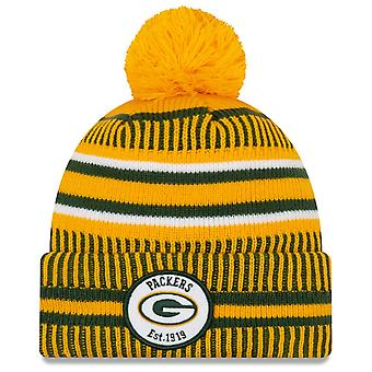 New Era Sideline Home 2019 Bobble Hat Green Bay Packers