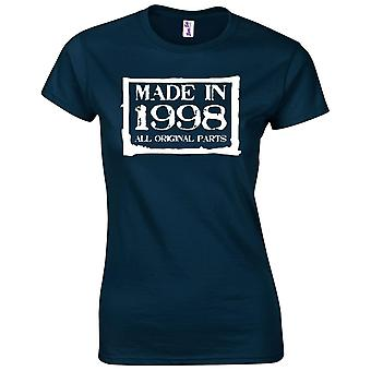 21st Birthday Gifts for Women Her Made In 1998 T-Shirt