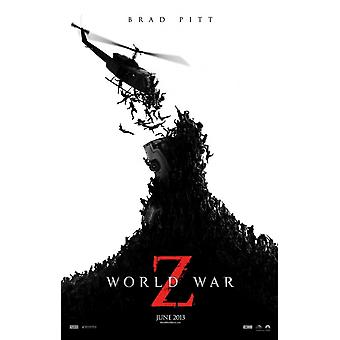 World War Z Poster Double Sided Advance (2013) Original Cinema Poster