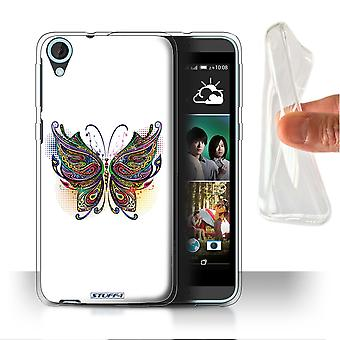 STUFF4 Gel/TPU Case/Cover for HTC Desire 820s Dual/Butterfly/Ornamental Animals