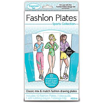 Fashion Plates Kit-Sports 01302