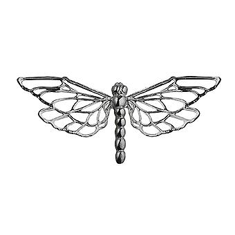 Silver 26x55mm Dragonfly Brooch