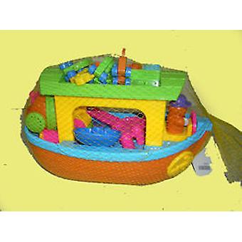 Beach Fun Toy Noah's Ark Boat With Red (Outdoor , Garden Toys , Sand Toys)