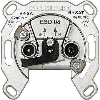 Antenna socket SAT, TV, FM Kathrein ESD 08 Flush mount