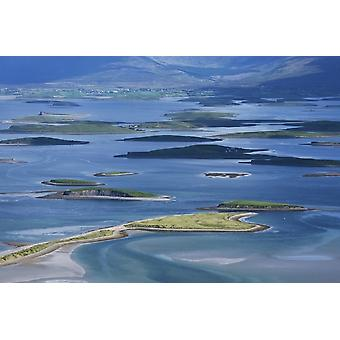 View from Mount Patrick over Clew Bay County Mayo Ireland PosterPrint
