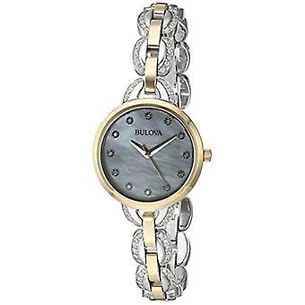 Bulova Women's 98L206 Crystal Analog Display Japanese Quartz Two Tone Watch
