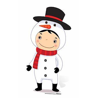 Mini Snowman Cardboard Cutout / Standee / Stand Up