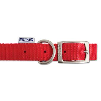 Heritage Nylon Collar Red 25mm X45-54cm Sz 6