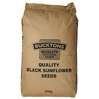 Bucktons negro 20kg de semilla de girasol