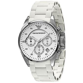 Emporio Armani AR5867 hvid Sports silikone Quartz Chronograph Watch