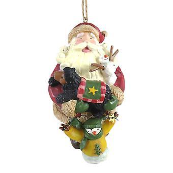 Santa og Woodland dyrevenner ferie julepynt