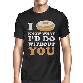 Ho ciambella conosce nero Casual t-shirt divertenti detto uomo