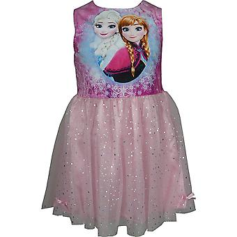 Disney Frozen Girls Velvet Fancy Sleeveless Dress