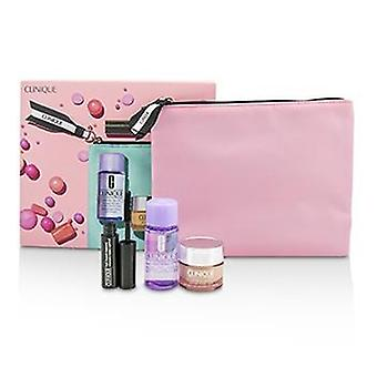 Clinique Travel Set: All About Eye 15ml + Mascara 3.5ml + Eye Makeup Remover 30ml+1Bag - 3pcs+1bag