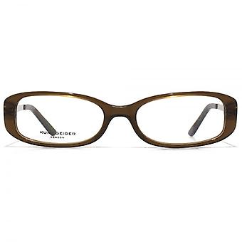 Kurt Geiger Sarah Classic Oval Acetate Glasses In Brown