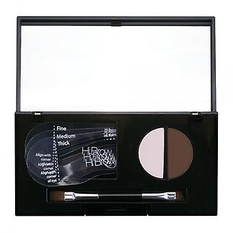 Hi Brow 24hr Brow Powder Compact - Dark Brown