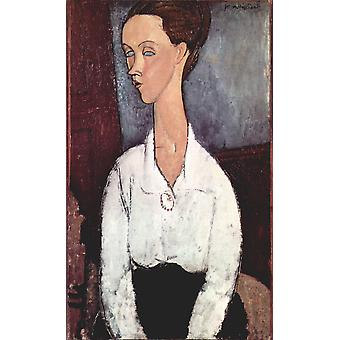 Amedeo Modigliani - Woman in White Shirt Poster Print Giclee