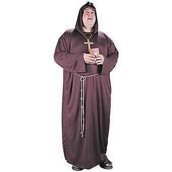 Monk Medieval Robin Hood Hooded Robe Men Costume Plus