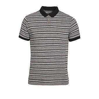 BELLFIELD Paddy Aztec Cotton Polo Shirt | Black