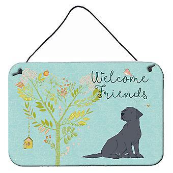 Welcome Friends Black Labrador Retriever Wall or Door Hanging Prints