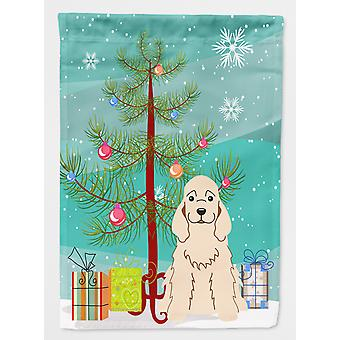 Merry Christmas Tree Cocker Spaniel Flag Garden Size