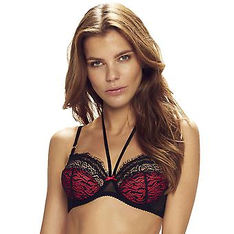 Confidante Women's Devil Red and Black Lace Underwired Full Cup Bra