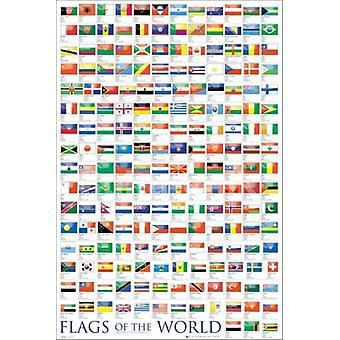 Flag i verden 2011 plakat plakat Print