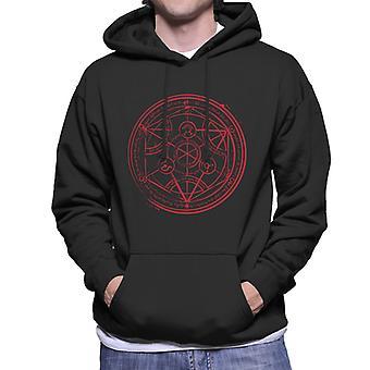 Fullmetal Alchamist Transmutation Circle Men's Hooded Sweatshirt