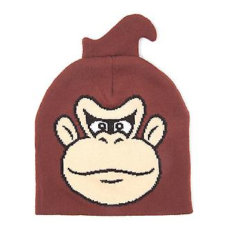 Nintendo Beanie Hat Donkey Kong new Official gamer Brown
