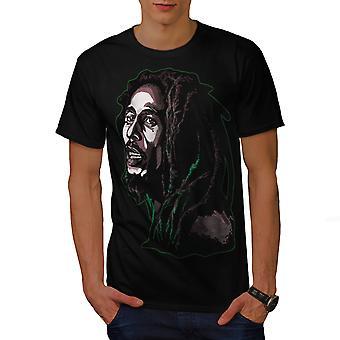 Weed Celebrity Bob Men BlackT-shirt | Wellcoda