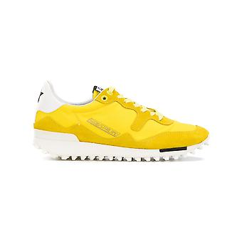 Golden Goose women's G31WS456C2 yellow leather of sneakers