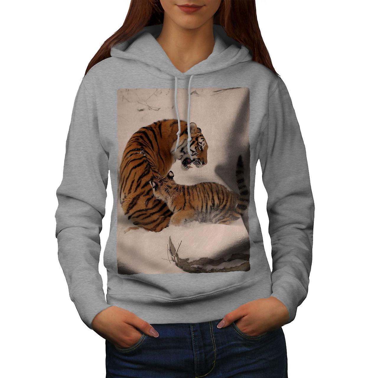 Snow Tiger hiver femmes grisHoodie