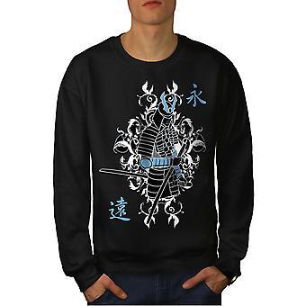 Japan Samurai Fantasy-Männer-BlackSweatshirt | Wellcoda