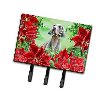 Carolines Treasures  CK1322TH68 Weimaraner Poinsettas Leash or Key Holder