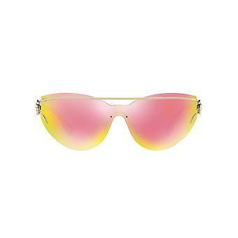 Versace V Unified Sunglasses In Pale Gold Yellow Rose Mirror