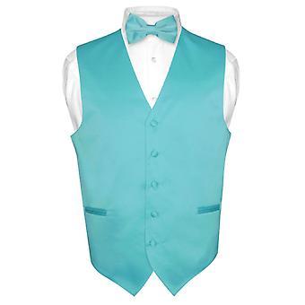 Men's Dress Vest & BowTie Solid Bow Tie Set