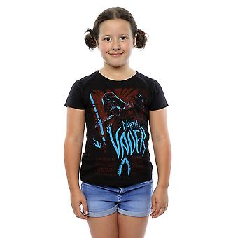 Star Wars Girls Darth Vader Rock Poster T-Shirt