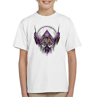 Camiseta neón Génesis Evangelion Test infantil de tipo