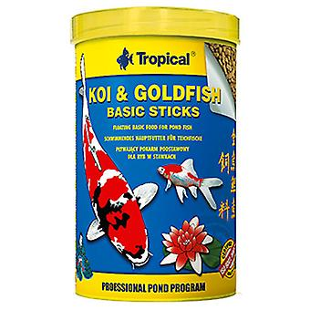 Tropical Koi &Amp  Goldfish Basic Stick Bag10L / 800 Gr (Fish , Food , Cold Water)