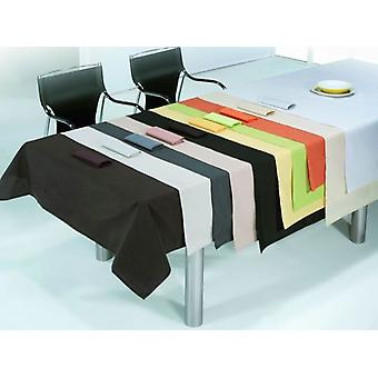 ES-TELA Tablecloth Thread with Napkins Rustic Smooth Corn with Hem