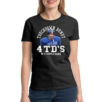 Married With Children Touchdown Game Women's Black T-shirt