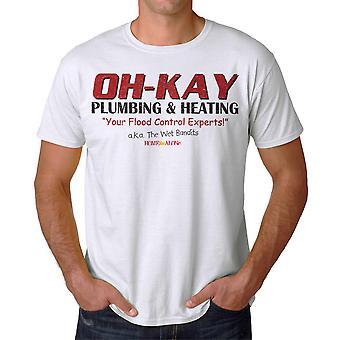 Home Alone Oh-Kay AKA Wet Bandits Men's White T-shirt