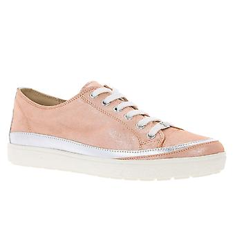 CAPRICE leather sneaker women's Orange glitter - look