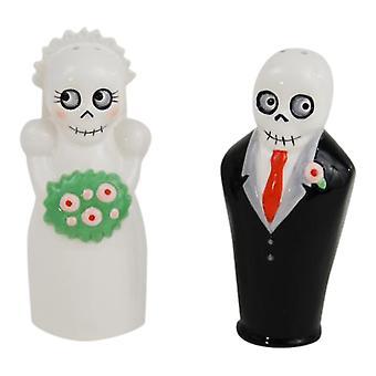 Braut und Bräutigam Newlydeads Salz- und Pfefferstreuer