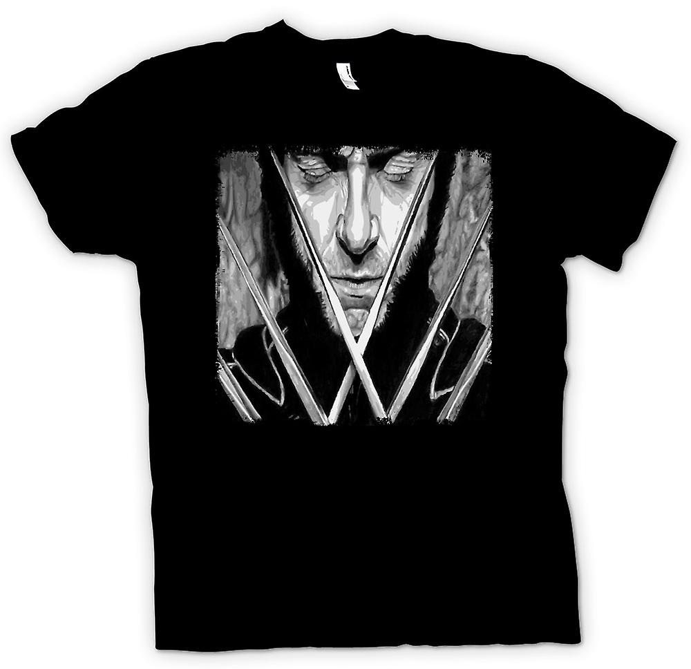 Womens T-shirt-X Men Wolverine - BW - Pop-Art
