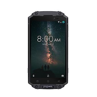 Preorder POPTEL P9000 MAX Android Phone Black - Android 7.0-4GB RAM, 5.5-Inch FHD, IP68, Dual-IMEI
