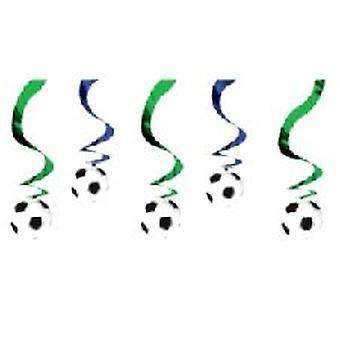 Fodbold hængende Swirl dekoration