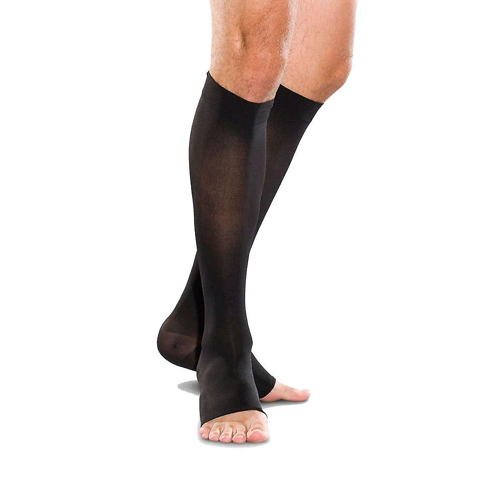 Therafirm Toeless Compression Knee Highs For Men And Women [Style AB11] Black  L